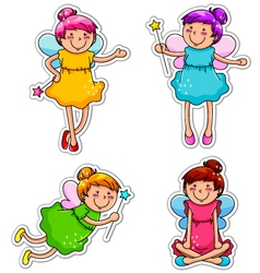 Cute fairies vector