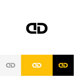 dd monogram logo icon letters d and d vector image