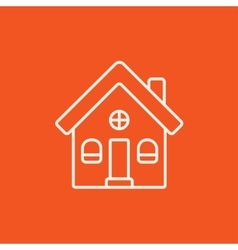 Detached house line icon vector image