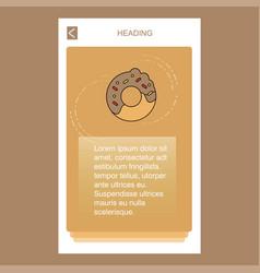 Doughnut mobile vertical banner design design vector