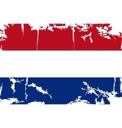 Dutch grunge flag vector