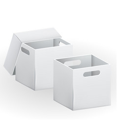 Empty cardboard box packaging container vector