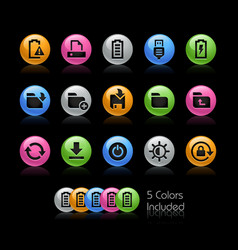 energy and storage icons - gelcolor series vector image