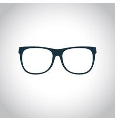 Eyeglasses black icon vector