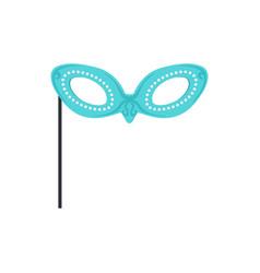 festive mask masquerade decorative element vector image