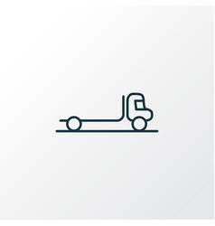 Flatbed truck icon line symbol premium quality vector