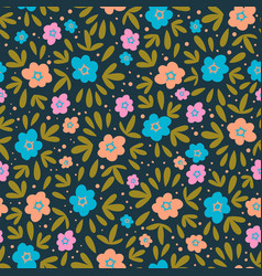 flower paper nature textile print seamless pattern vector image