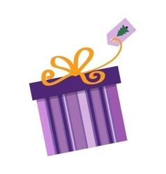 Gft box with ribbon vector image