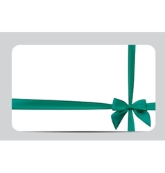 Gift Card Template with Silk Ribbon and Bow vector