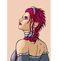Girl with hairdress in the french style vector