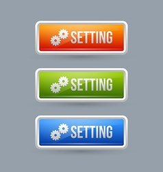 Glossy setting buttons vector image