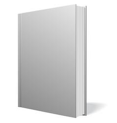gray book standing isolated vector image