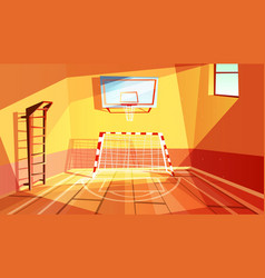 Gymnasium or gym hall vector