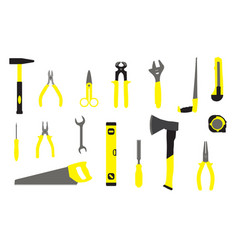 Hand tools for home repair vector
