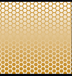 hexagon halftone gold color vector image