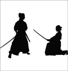 Japanese samurai-1 vector image
