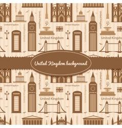 Landmarks of United Kingdom background vector image vector image