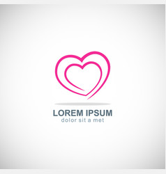 love heart valentine logo vector image