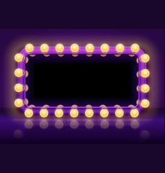 makeup mirror table backstage mirrors lights vector image