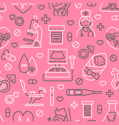 Medical seamless pattern gynecology vector