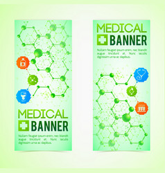 Medicine and diagnosis banners set vector