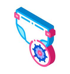 Microbe diaper isometric icon vector