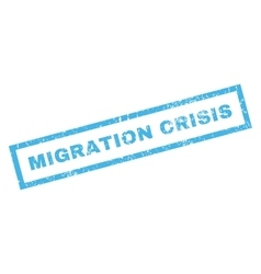 Migration Crisis Rubber Stamp vector