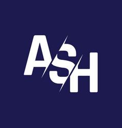 Monogram letters initial logo design ash vector