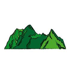 Mountains peak alpine landscape image vector
