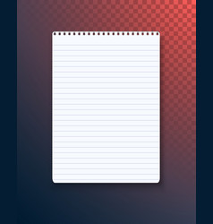 notepad paper notebook template vector image