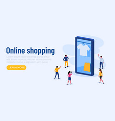 online shopping promotion smartphone app and vector image