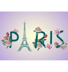 Paris text design vector