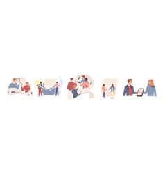 people signing paper and digital contract vector image