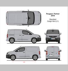 Peugeot partner cargo van l1 2018-present vector