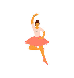 professional ballerina dancing classical ballet vector image