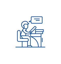 reader line icon concept reader flat vector image