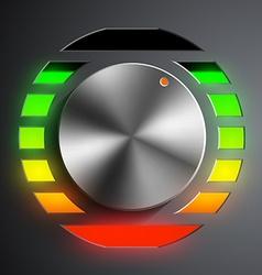 Round metal regulator vector