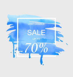 sale up to 70 percent off sign over art brush vector image