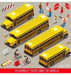 School Bus Vehicle Isometric vector image