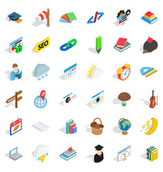 screen icons set isometric style vector image