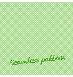 seamless pattern lines green with text vector image