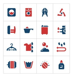 Set color icons of laundry vector