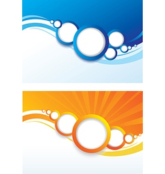 set of abstract color background vector image
