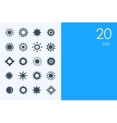 Set of BLUE HAMSTER Library sun icons vector