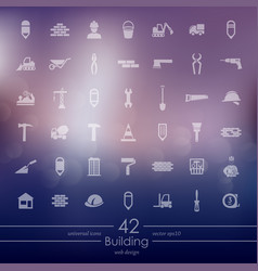 Set of building icons vector
