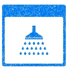 Shower Calendar Page Grainy Texture Icon vector image