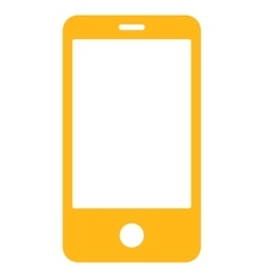 Smartphone flat yellow color icon vector