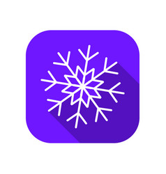 snowflake flat icon with long shadow symbol of vector image