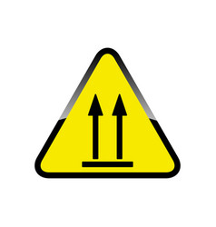 This way up fragile sign icon vector