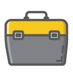 Toolbox filled outline icon build and repair vector